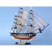 Handcrafted Model Ships USS Constitution Limited 7 in. Decorative Tall Model Ship (HDFM1561)