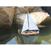 Handcrafted Model Ships It Floats 12 in. - Blue Floating Sailboat Decorative Accent (HDFM1301)