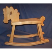 THE PUZZLE-MAN TOYS Wooden Rocking Horse - Hand Rubbed Natural Oil (CRWP540)