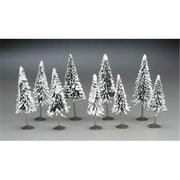 Bachmann N 3 in.- 4 in. Pine Trees with Snow - 9( SPWS4540)