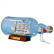 Handcrafted Model Ships Blue Flying Cloud Ship in a Bottle 11 in. Ships In A Bottle Decorative Accent (HDFM2063)