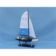 Handcrafted Model Ships BMW Oracle 23 in. Decorative Sail Boat (HDFM2006)