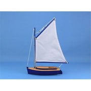 Handcrafted Model Ships Barnegat Bay Cat Sailboat 15 in. Decorative Accent( HDFM1304)