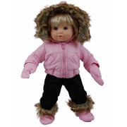 The Queens Treasures Pink Snow Suit Outfit for 15 in. American Girl Bitty Baby (TQST148)