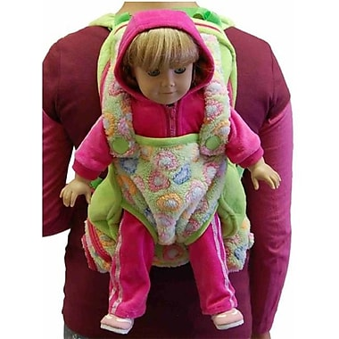 The Queens Treasures Childs Backpack with 18 in. Doll Carrier & Sleeping Bag, Green (TQST134)