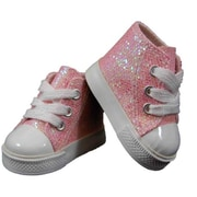The Queens Treasures Pink Sparkle High Top For 18 in. Dolls & American Girl (TQST092)