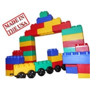Serec Entertainment 60 pc Jumbo Blocks Train Station Play Set (SRCE018)
