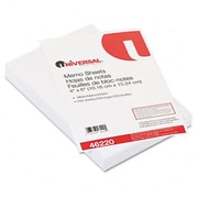 Universal Loose Memo Sheets 4 x6 White 200 Sheets per Pack (AZRUNV46220)
