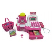 AZ IMPORT & TRADING 12 inch Pink Supermarket Cash Register with Checkout Scanner PS536 (AZIMT481) by