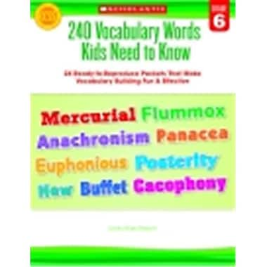 Scholastic 240 Vocabulary Words Kids Need To Know, Grade 6 (SSPC50022)