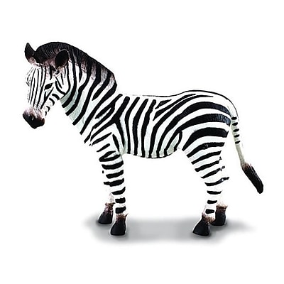 CollectA African Common Zebra - Wildlife Animal Toy Replica Figurine - Pack of 6 (IQON014) 2516645