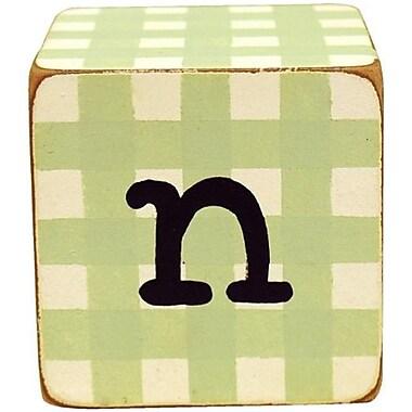 Newarrivals Letter Blocks N in Green (NWARVL309)