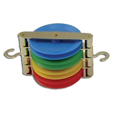 Ginsberg Scientific Pulley - Quadruple - Color Coded (AMED2334)