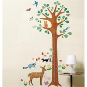 Wallies Wallcoverings Peel & Stick Wall Play Woodland Growth Chart (WLWC053)