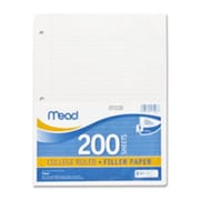 Mead Notebook Paper, 3HP,College Ruled, 200 Sht-PK,8.5 in. x 11 in., WE (SPRCH40303)