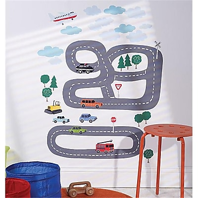 Wallies Wallcoverings Peel & Stick Wall Play Around Town (WLWC046) 2516890