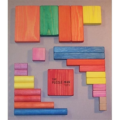 THE PUZZLE-MAN TOYS Wooden Educational Building Blocks