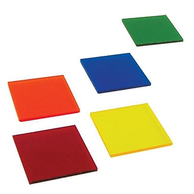 Ginsberg Scientific Color Filters - Acrylic - 2 Inch x 2 Inch - Package Of 5 (AMED2468)