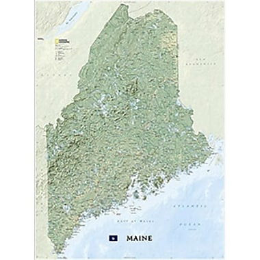 National Geographic Maps Maine Wall Map - Laminated (NAGGR367)
