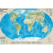 National Geographic Maps The Dynamic Earth Plate Tectonics Wall Map - Laminated (NAGGR375)