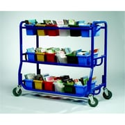 Copernicus Educational Products Library On Wheels Cart With 18 Small Tubs (CPRNRTL0542)