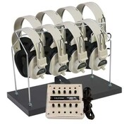 Califone International 8-Position Stereo Listening Center With Headphone Rack (CAFI042)