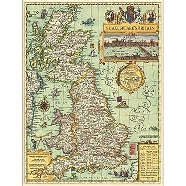 National Geographic Map Of Shakespeares Britain - Tubed (NGS515)