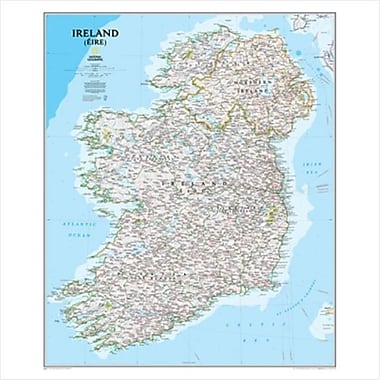 National Geographic Maps Ireland Classic Wall Map - Tubed (NAGGR300)