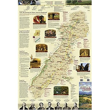 National Geographic Maps Journey Through Hallowed Ground Wall Map - Folded (NAGGR352)