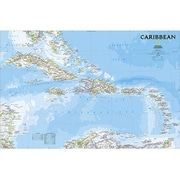 National Geographic Maps Caribbean Classic Wall Map - Tubed (NAGGR319)