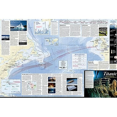 National Geographic Maps Titanic Wall Map - Laminated (NAGGR364)