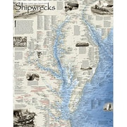 National Geographic Maps Shipwrecks of Delmarva Wall Map (NAGGR336)