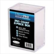 Ultra Pro 81148 2-Piece 250 Count Clear Card Storage Box (ACDD11614)