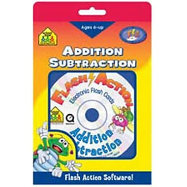 SCHOOL ZONE PUBLISHING FLASH ACTION ADDITION/SUBTRACTION-AGES 6 AND UP SOFTWARE (EDRE5311)