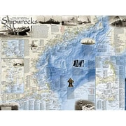 National Geographic Maps Shipwrecks of the Northeast Wall Map - Tubed (NAGGR349)