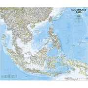 National Geographic Maps Southeast Asia Classic Wall Map - Laminated (NAGGR323)