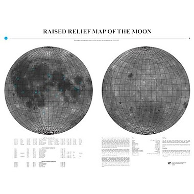 American Educational Moon Relief Map (AMED3451)