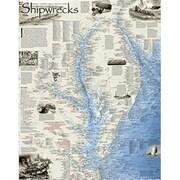 National Geographic Maps Shipwrecks of the Delmarva Wall Map - Laminated (NAGGR339)