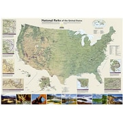 National Geographic Maps United States National Parks Wall Map (NAGGR340)