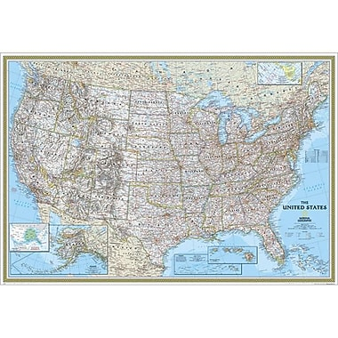 National Geographic United States Classic Map - Enlarged And Tubed (NGS689)