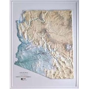 Hubbard Scientific Raised Relief Map Arizona State Map (AMED1891)