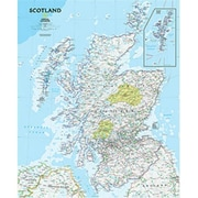 National Geographic Maps Scotland Classic Wall Map - Laminated (NAGGR308)