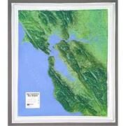 Hubbard Scientific Raised Relief Map San Francisco Bay (AMED1959)
