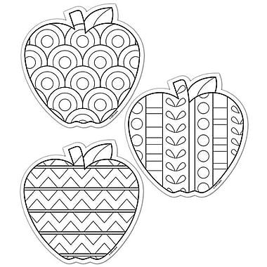 Creative Teaching Press Color Me Apples 6In Designer Cut (EDRE46651)