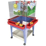 Manta Ray Blue Frame Four Station Easel With Mega-tray (MNTR020)
