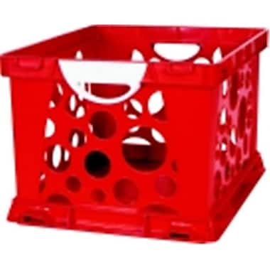 Storex 2-Color Large Crate With Handles - Ruby Red-White (SSPC58539)