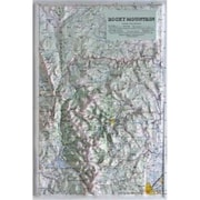 Hubbard Scientific Raised Relief Map Rocky Mountain National Park (AMED1954)