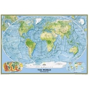 National Geographic World Physical-Ocean Floor - Tubed Map (NGS540)