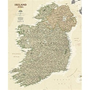 National Geographic Maps Ireland Executive Wall Map - Tubed (NAGGR303)