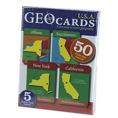 Brybelly Holdings GeoCards USA Educational Geography Card